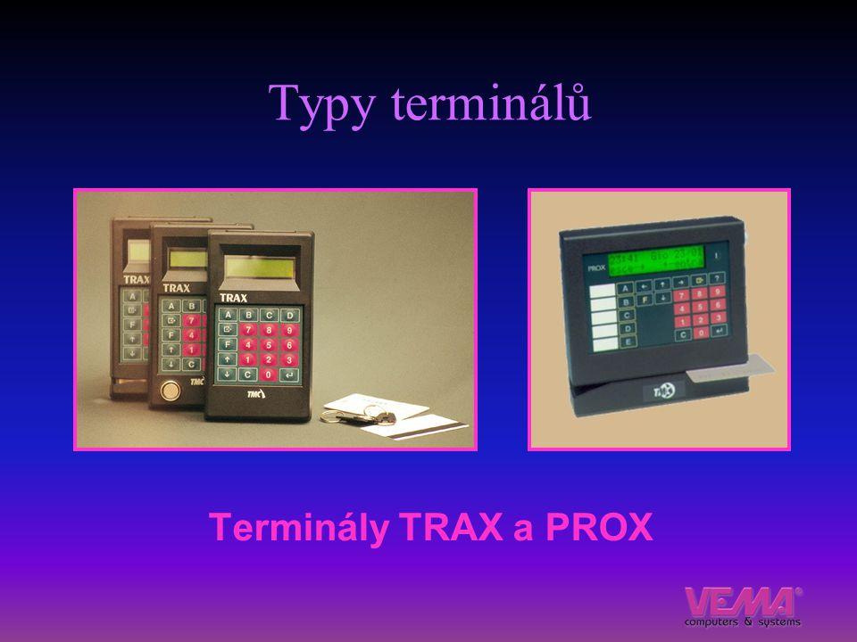 Typy terminálů Terminály TRAX a PROX