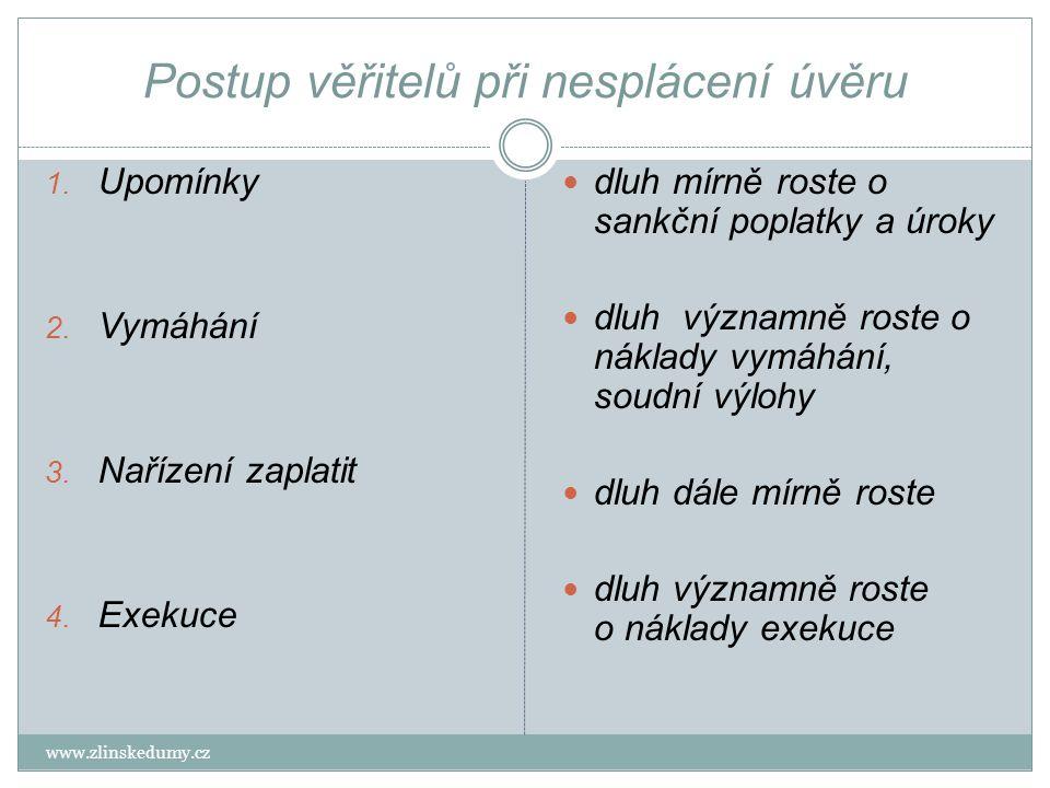 Věřitel Co můžeme dělat www.zlinskedumy.cz Posílá upomínky písemně, e-mailem a telefonicky urgují zaplacení.