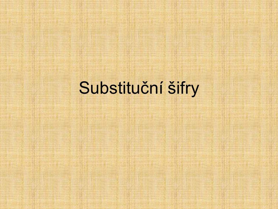 Substituční šifry