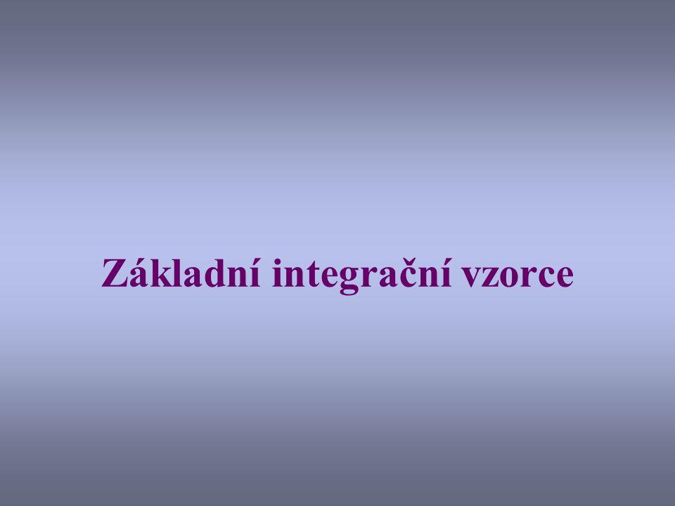 Základní integrační vzorce