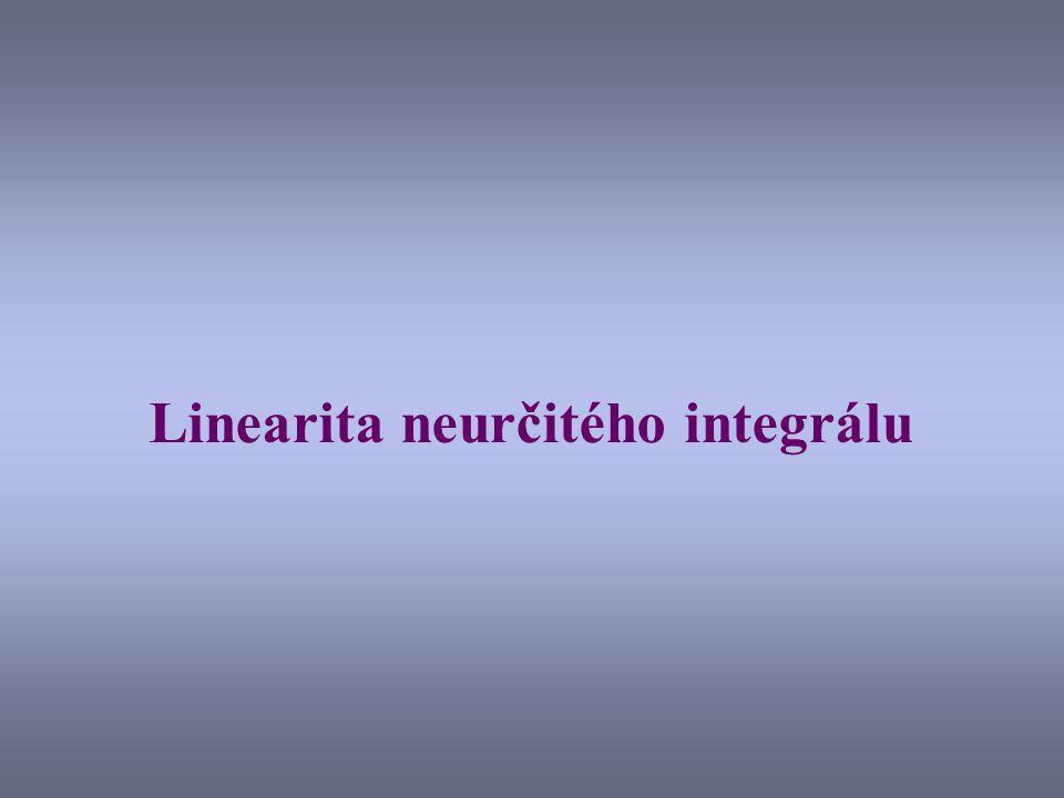 Linearita neurčitého integrálu