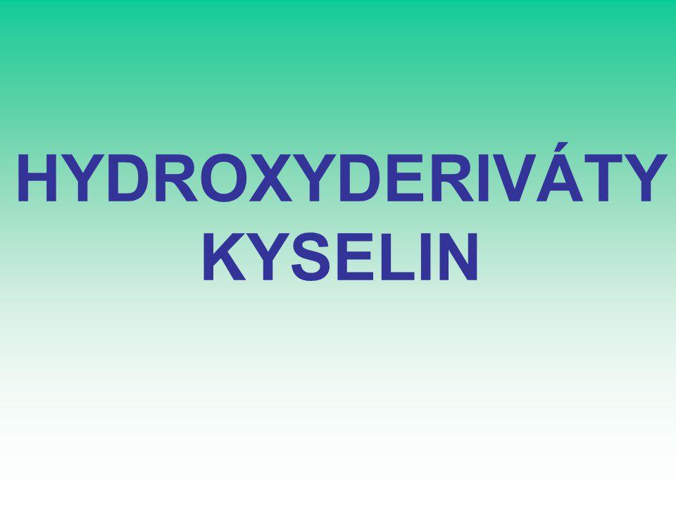HYDROXYDERIVÁTY KYSELIN
