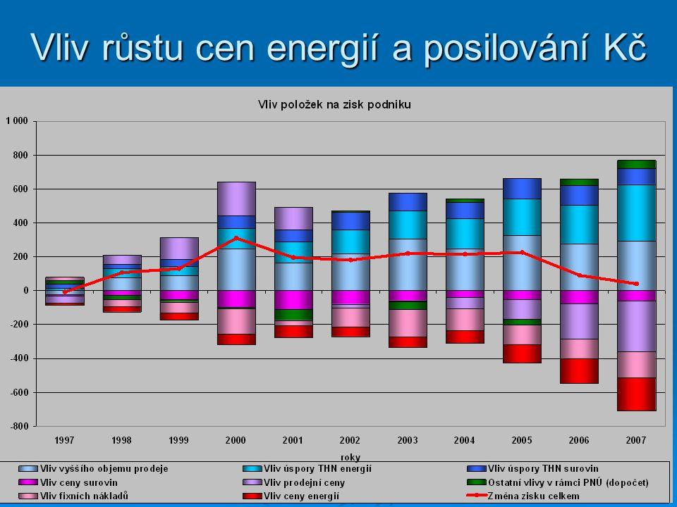 Vliv růstu cen energií a posilování Kč