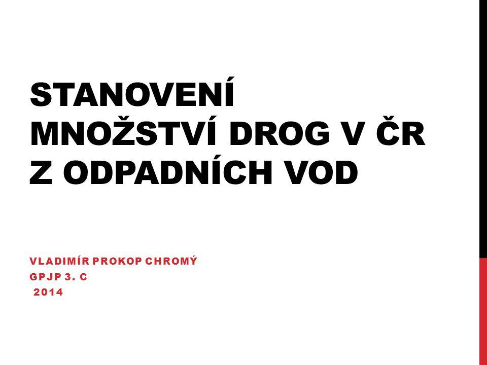 STANOVENÍ MNOŽSTVÍ DROG V ČR Z ODPADNÍCH VOD VLADIMÍR PROKOP CHROMÝ GPJP 3. C 2014