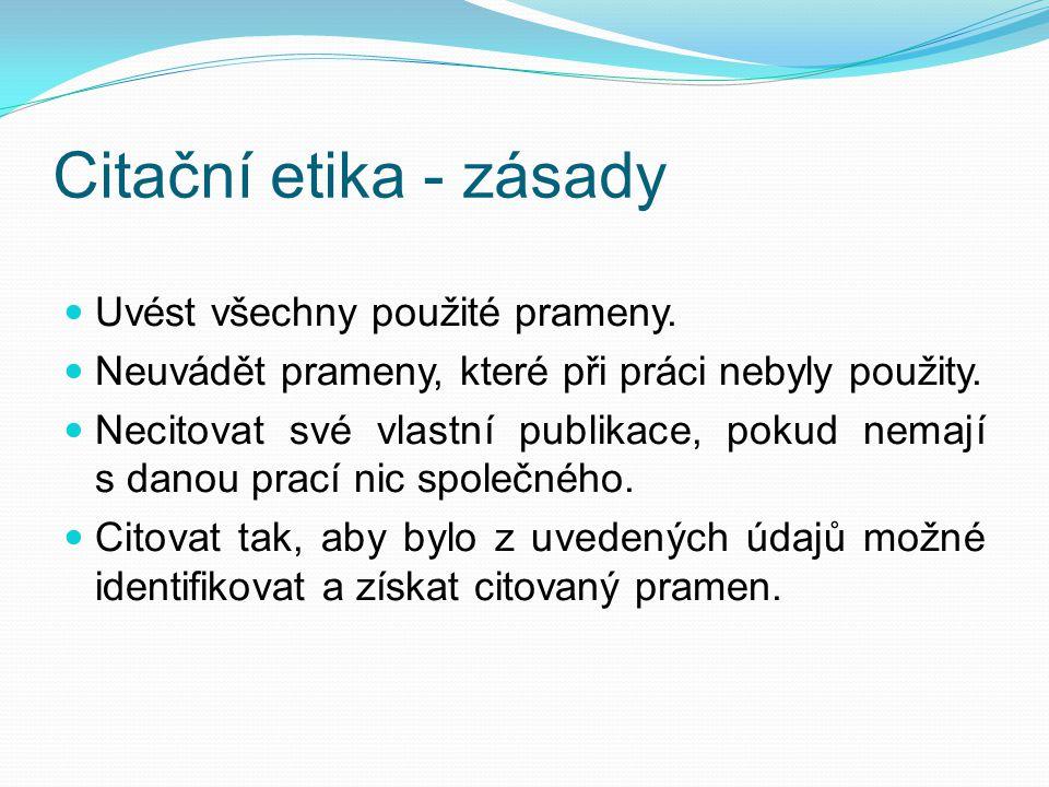 Citace webového sídla, webového portálu Jméno tvůrce.