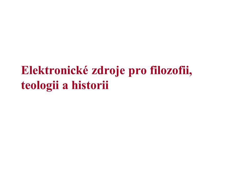 Elektronické zdroje pro filozofii, teologii a historii