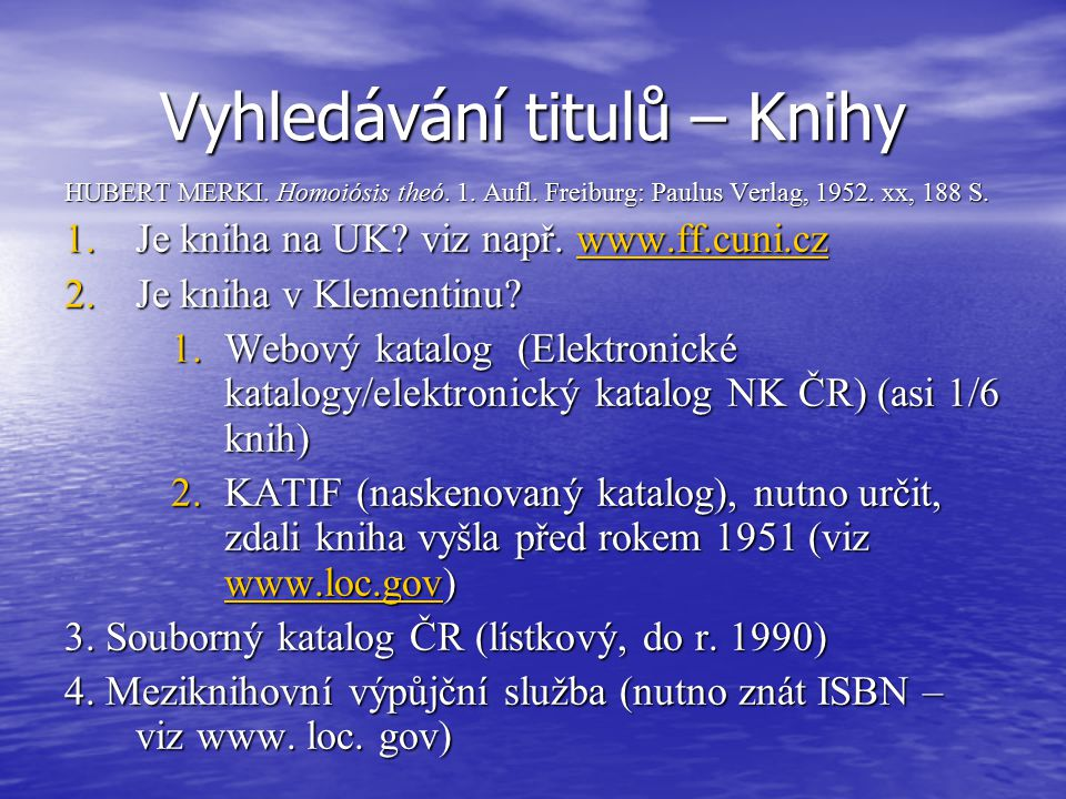 Vyhledávání titulů – Knihy HUBERT MERKI. Homoiósis theó.