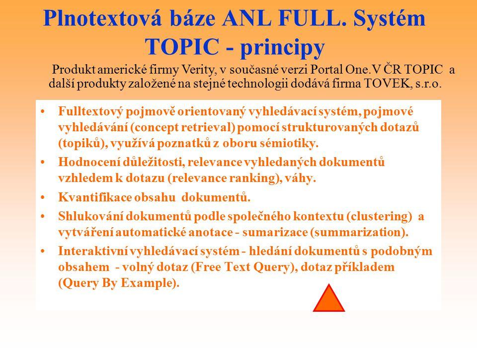 Plnotextová báze ANL FULL.