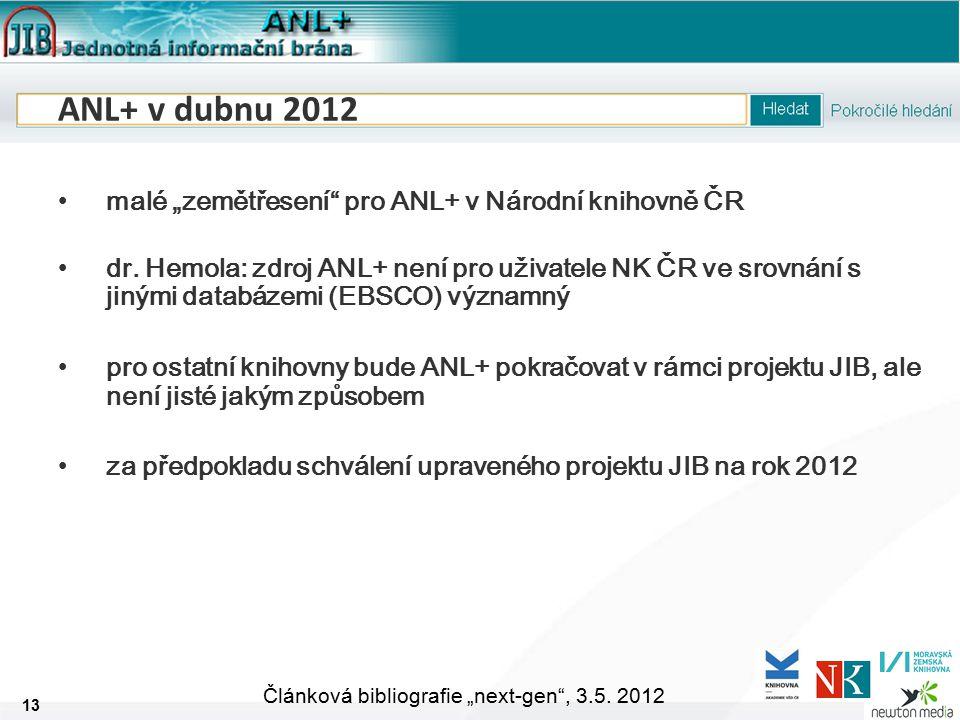 """13 Článková bibliografie """"next-gen , 3.5."""
