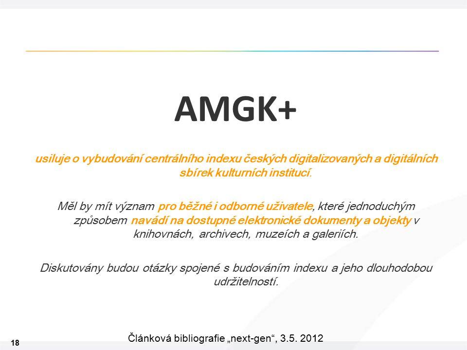 """18 Článková bibliografie """"next-gen , 3.5."""