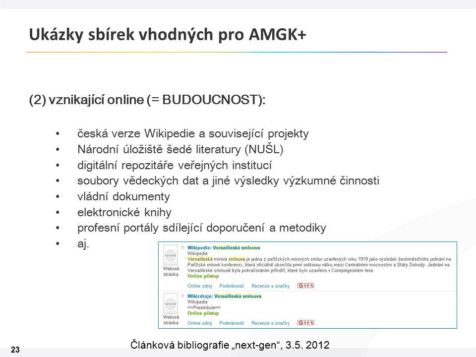 """23 Článková bibliografie """"next-gen , 3.5."""