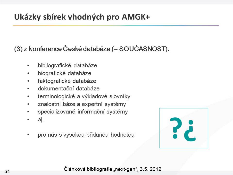 """24 Článková bibliografie """"next-gen , 3.5."""