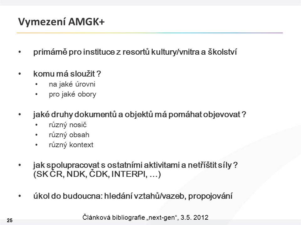 """25 Článková bibliografie """"next-gen , 3.5."""