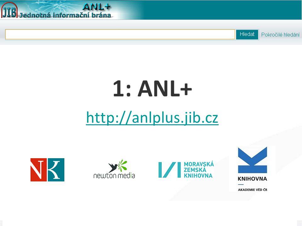 """14 Článková bibliografie """"next-gen , 3. 5. 2012 Ukázka ANL+ pro VISK9"""