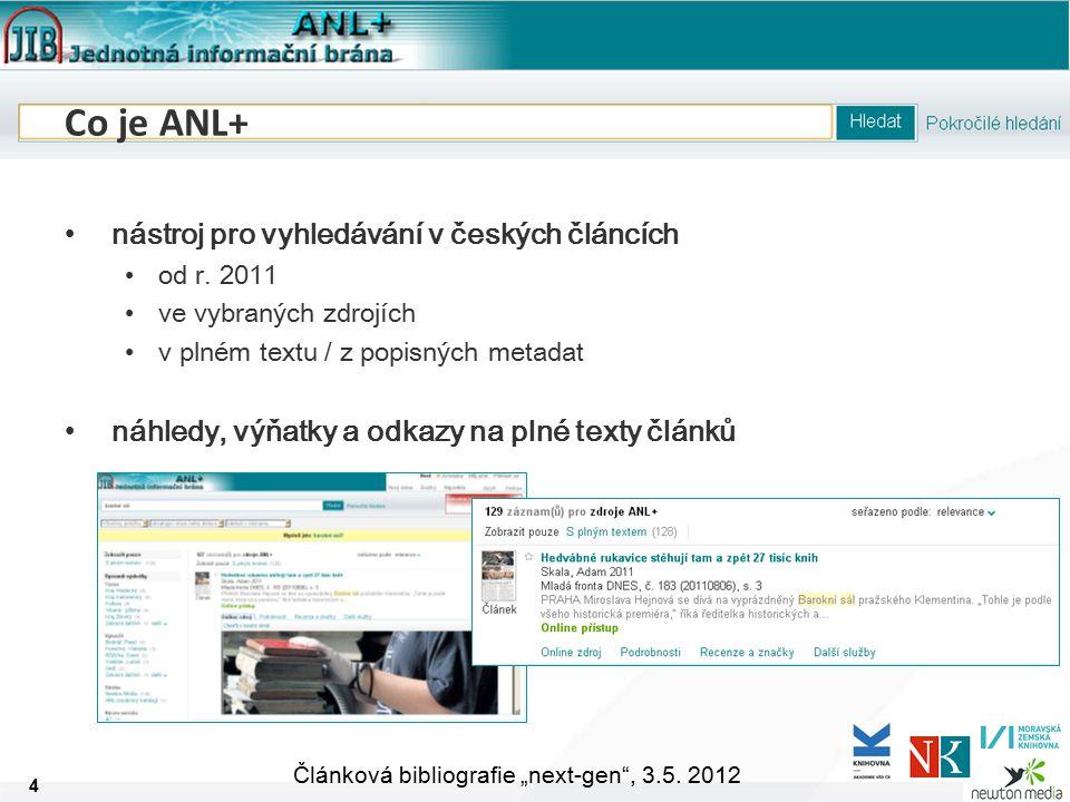 """5 Článková bibliografie """"next-gen , 3.5."""