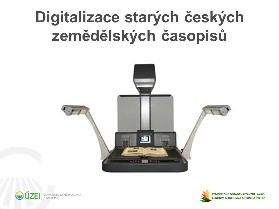 Digitalizace starých českých zemědělských časopisů
