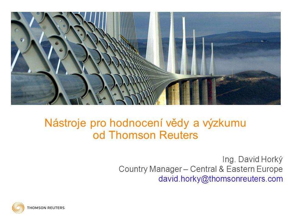Nástroje pro hodnocení vědy a výzkumu od Thomson Reuters Ing.