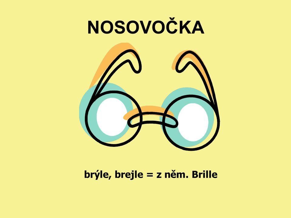 NOSOVOČKA brýle, brejle = z něm. Brille