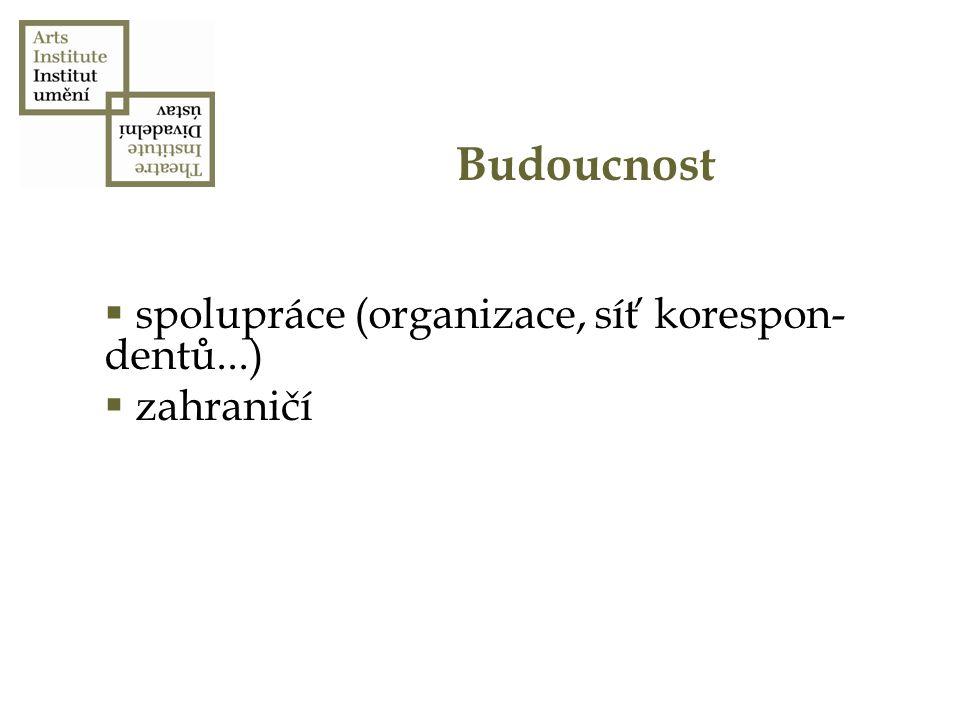 Budoucnost  spolupráce (organizace, síť korespon- dentů...)  zahraničí