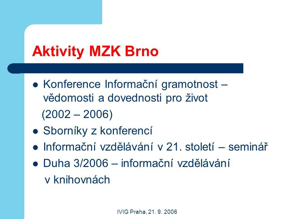 IVIG Praha, 21.9.