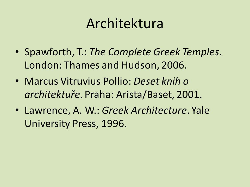 Architektura Spawforth, T.: The Complete Greek Temples.