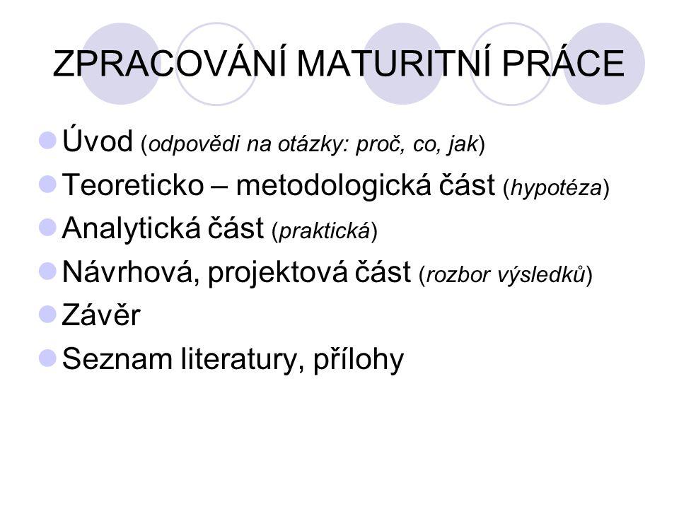 Děkuji za pozornost a přeji úspěch při zpracování a obhajobě vaší závěrečné práce Z. Javorský