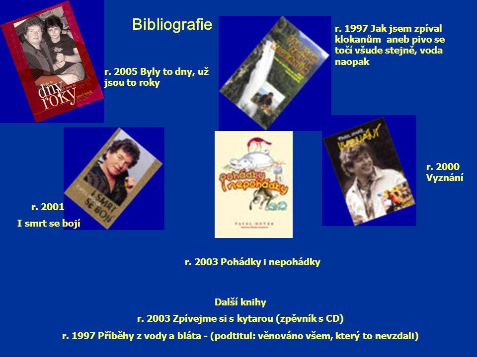 Bibliografie Další knihy r.2003 Zpívejme si s kytarou (zpěvník s CD) r.
