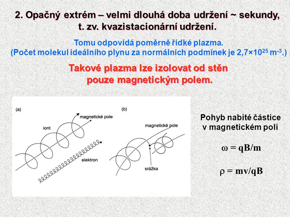 2. Opačný extrém – velmi dlouhá doba udržení ~ sekundy, t. zv. kvazistacionární udržení. 2. Opačný extrém – velmi dlouhá doba udržení ~ sekundy, t. zv