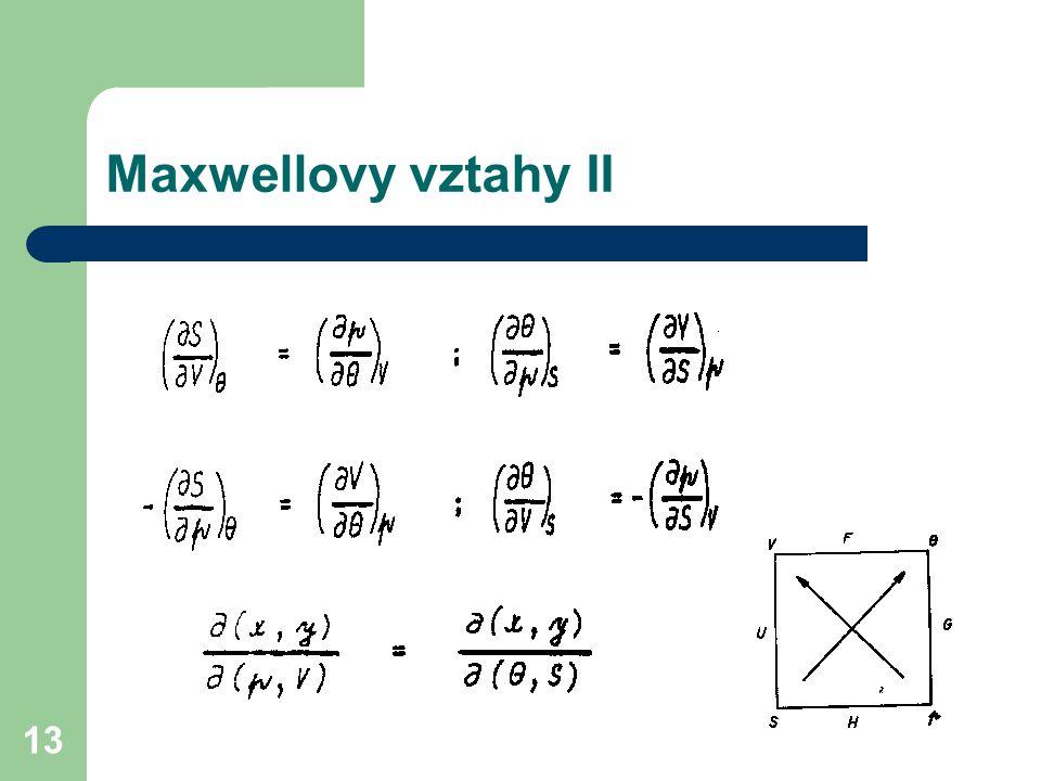 13 Maxwellovy vztahy II