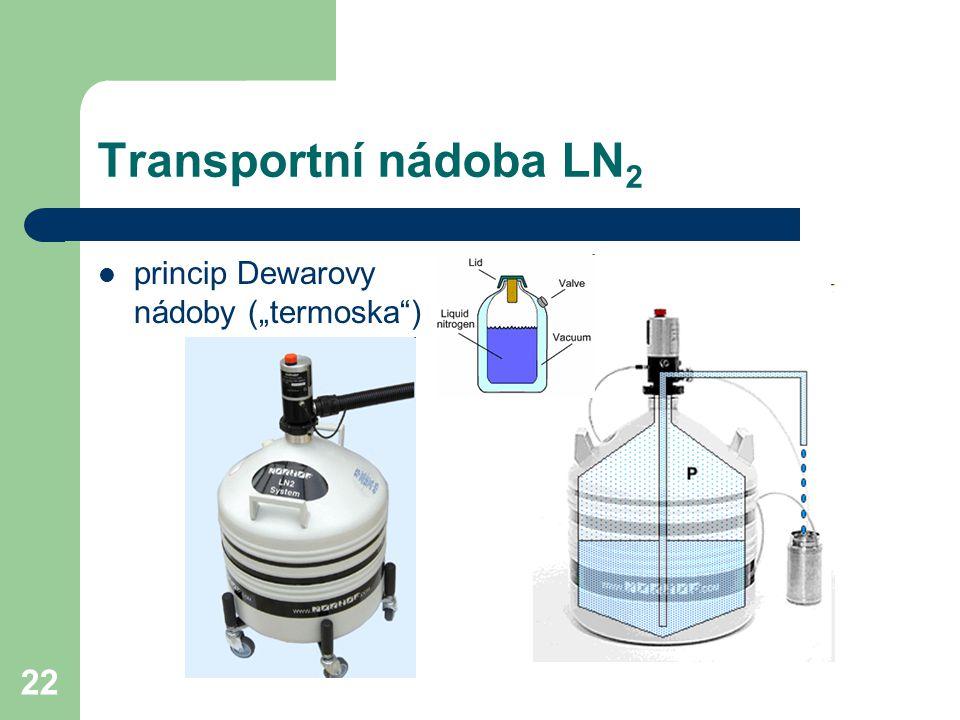 """22 Transportní nádoba LN 2 princip Dewarovy nádoby (""""termoska )"""