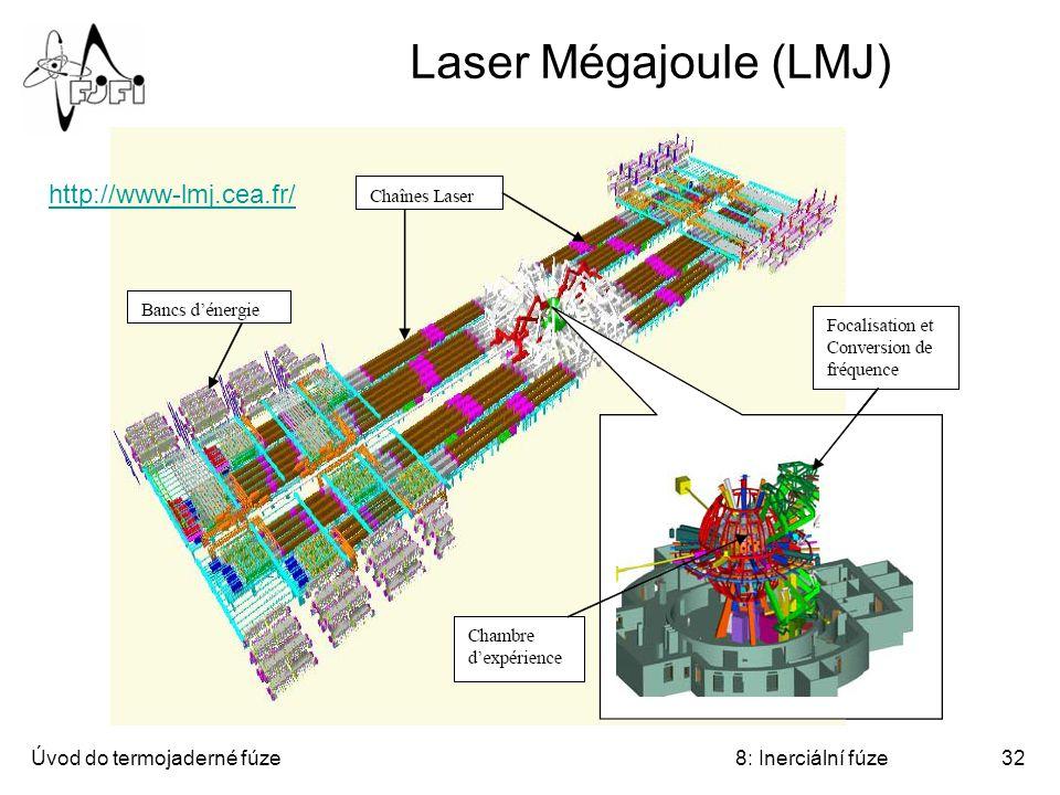 Úvod do termojaderné fúze8: Inerciální fúze32 Laser Mégajoule (LMJ) http://www-lmj.cea.fr/