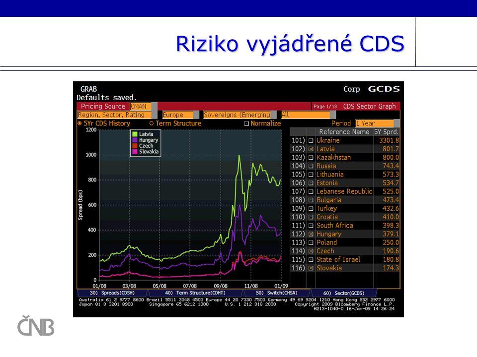 Riziko vyjádřené CDS