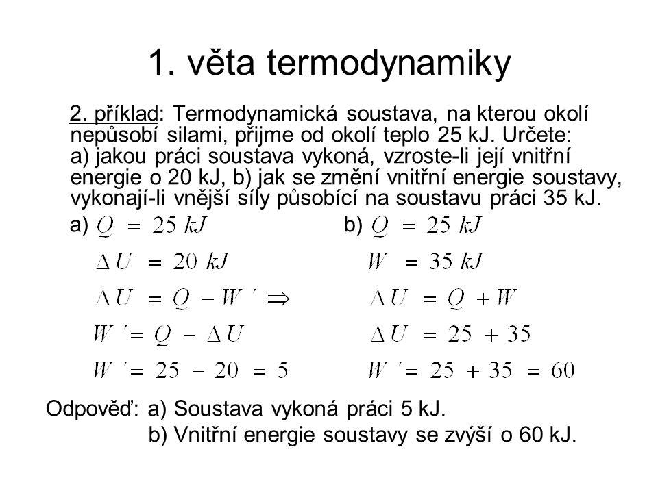 1. věta termodynamiky 2.