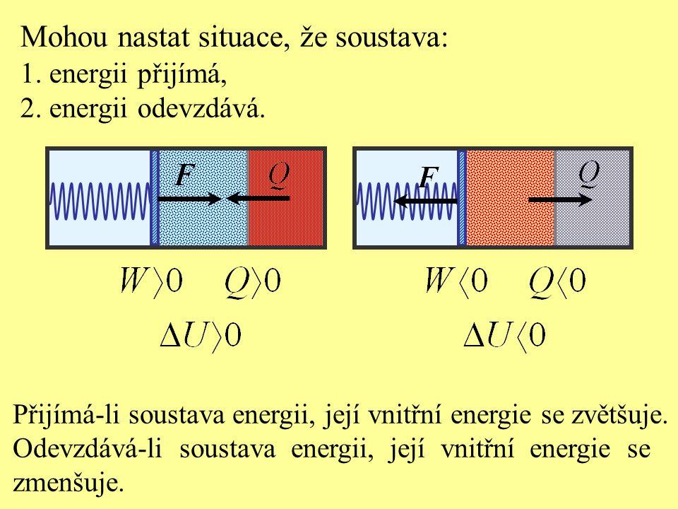Mohou nastat situace, že soustava: 1.energii přijímá, 2.