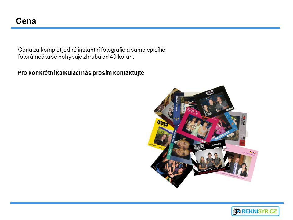 Cena za komplet jedné instantní fotografie a samolepícího fotorámečku se pohybuje zhruba od 40 korun.