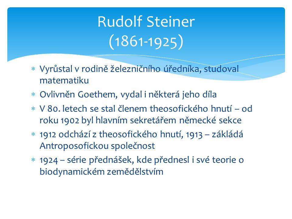  Vyrůstal v rodině železničního úředníka, studoval matematiku  Ovlivněn Goethem, vydal i některá jeho díla  V 80. letech se stal členem theosofické