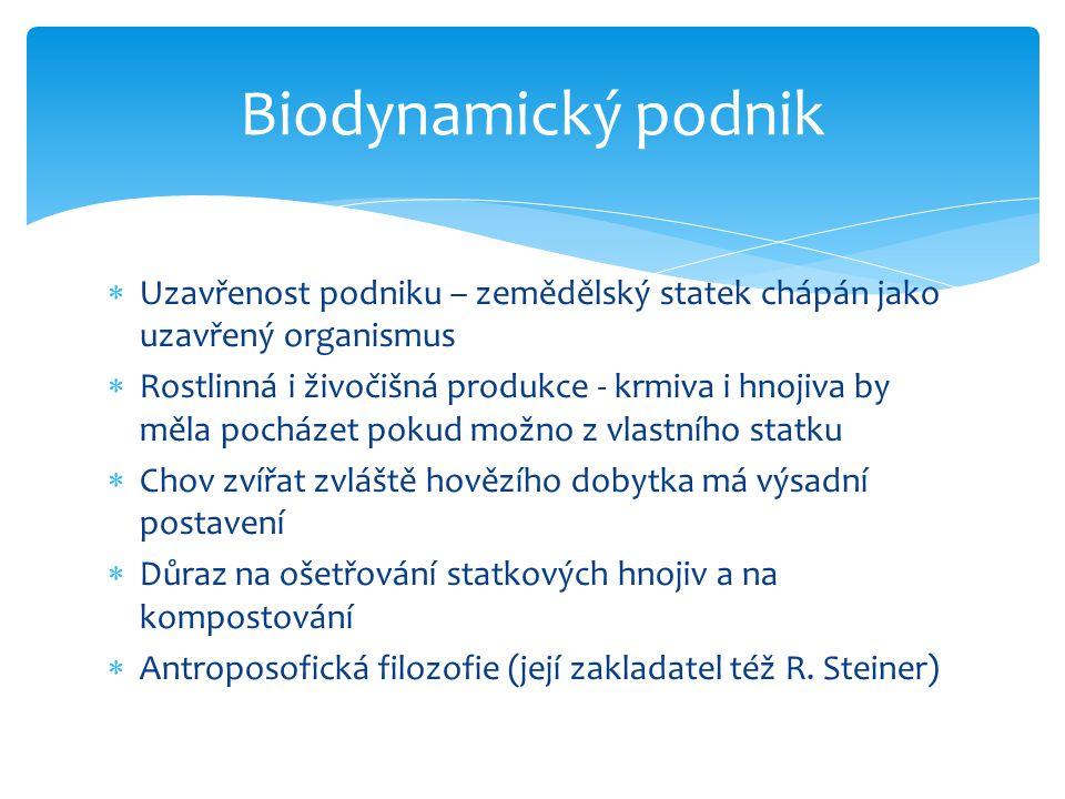 Biodynamické preparáty  500 – roháček  501 – křemenáček  502 – řebříček  503 – heřmánek  504 – kopřiva  505 – preparát z dubové kůry  506 – pampeliška  507 – kozlík  508 - přeslička