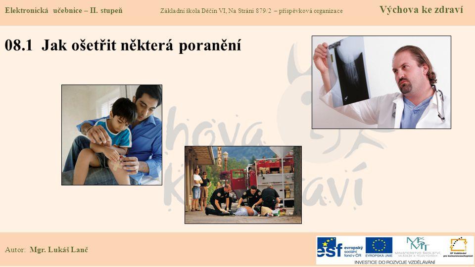 08.1 Jak ošetřit některá poranění Elektronická učebnice – II.