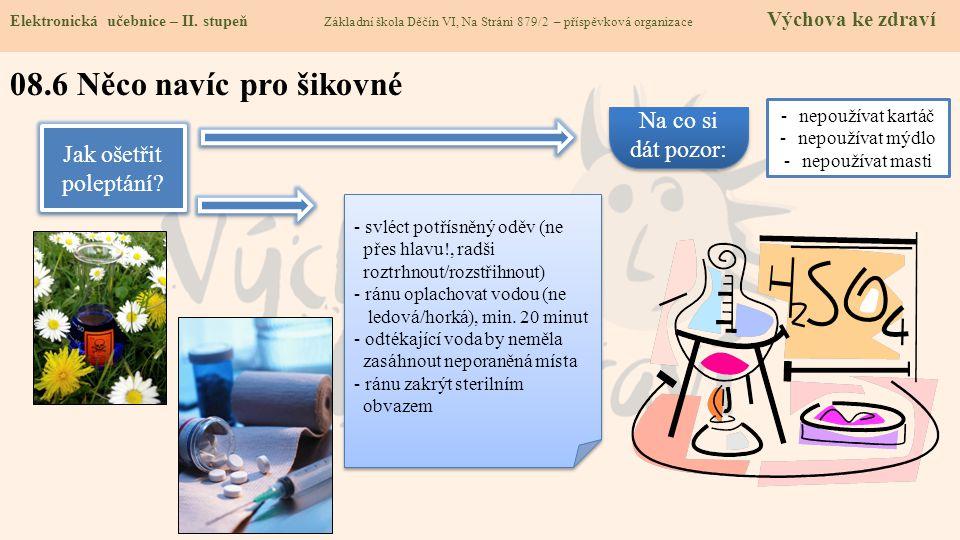 Elektronická učebnice - II. stupeň Základní škola Děčín VI, Na Stráni 879/2 – příspěvková organizace Chemie Elektronická učebnice – II. stupeň Základn