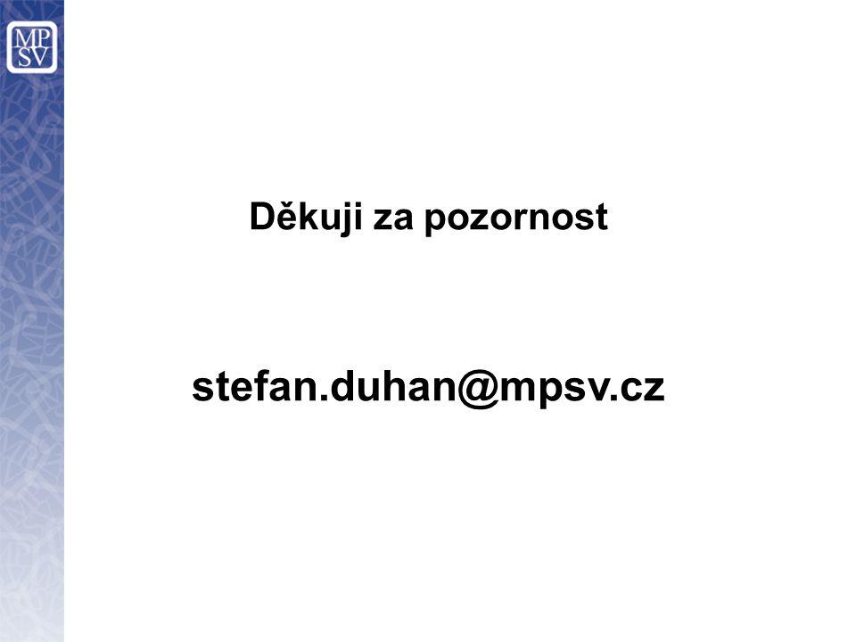 Děkuji za pozornost stefan.duhan@mpsv.cz