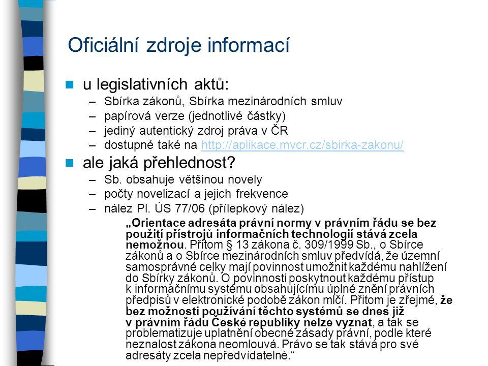 ASPI: právní předpisy ikona paragrafu (či F2) vyhledání podle čísla –známe číslo předpisu –nejen Sbírka, ale i jiné zdroje –možno napsat i přímo zkratku (OZ, OSŘ, IZ, ZA atd.) seznam (karta předpisu) –hledání, obsah, paragrafy vyhledání podle jiných kritérií –nutné dodržovat diakritiku i velká/malá písmena (nebo lingvistika), pozor na zůstávající termíny vyhledávání.