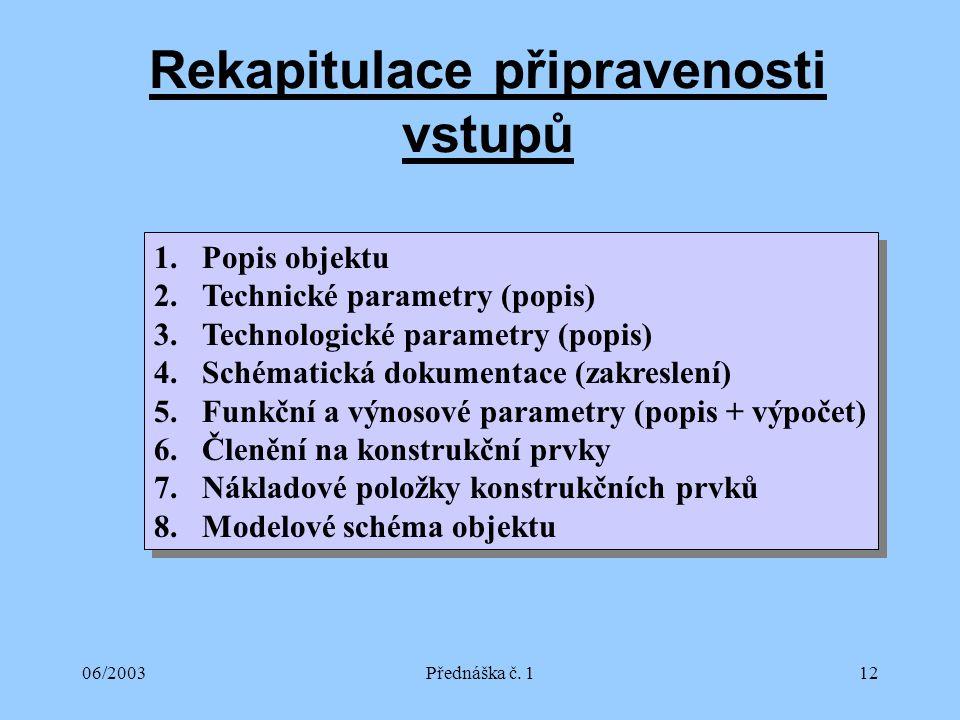 06/2003Přednáška č.