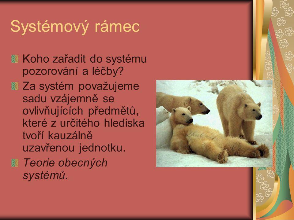 Systémový rámec Koho zařadit do systému pozorování a léčby.