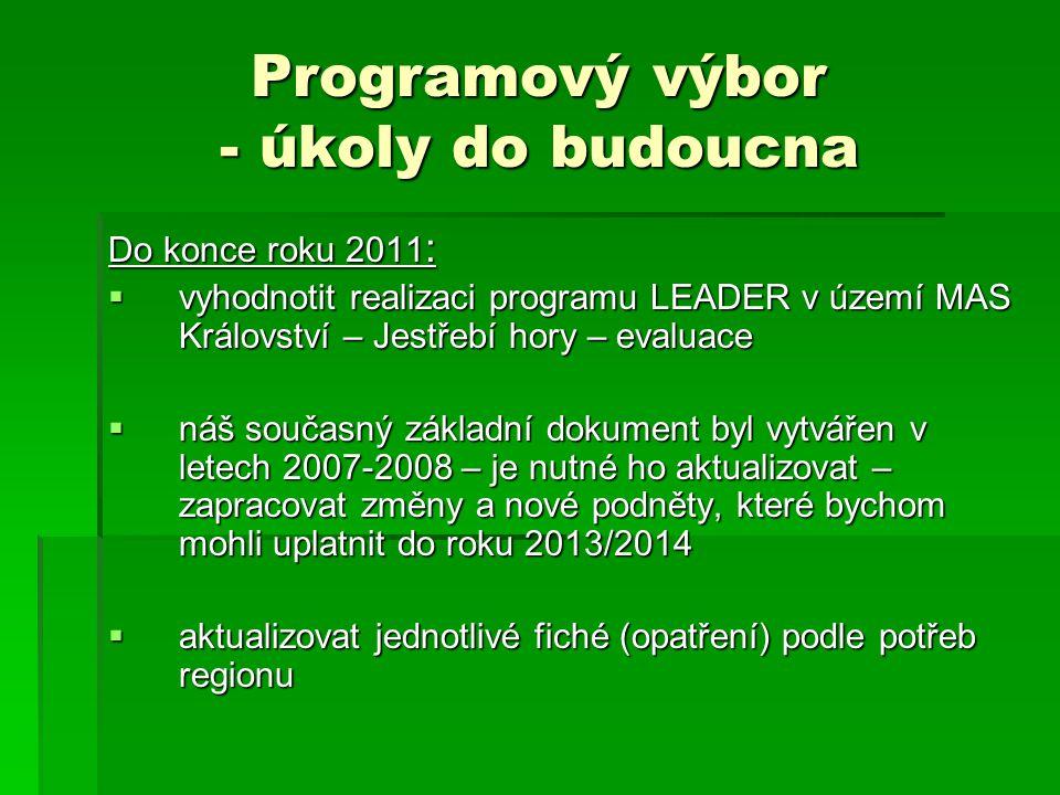Programový výbor - úkoly do budoucna V roce 2012 :  vyhlásit V.