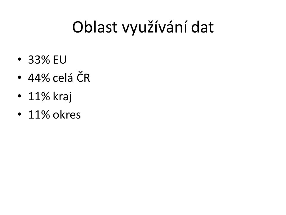 Srovnání s výsledky EURADIN III uživatelé v EU projevili větší fantazii při požadování dalších informací (ot.