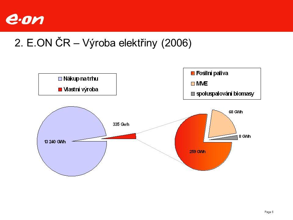 Page 6 2. E.ON ČR – Výroba elektřiny (2006)