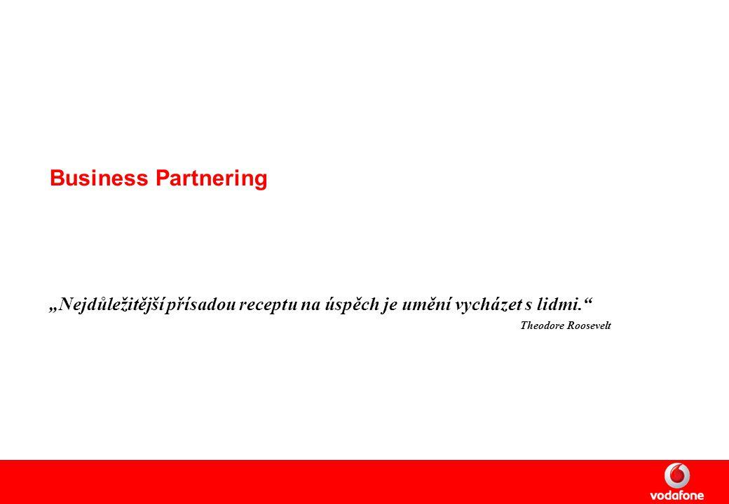 """Business Partnering """"Nejdůležitější přísadou receptu na úspěch je umění vycházet s lidmi. Theodore Roosevelt"""