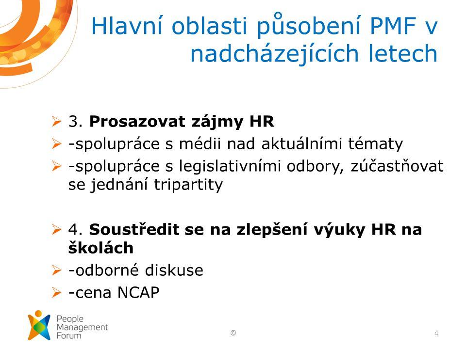  3. Prosazovat zájmy HR  -spolupráce s médii nad aktuálními tématy  -spolupráce s legislativními odbory, zúčastňovat se jednání tripartity  4. Sou