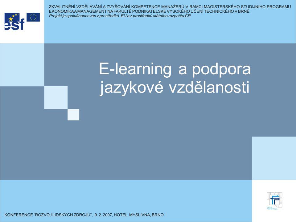 E-learning a podpora jazykové vzdělanosti