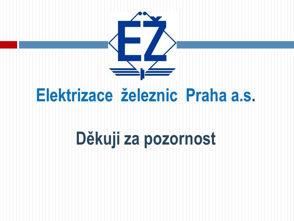 Elektrizace železnic Praha a.s. Děkuji za pozornost
